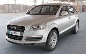 audi q7 2007 luxury 3ds