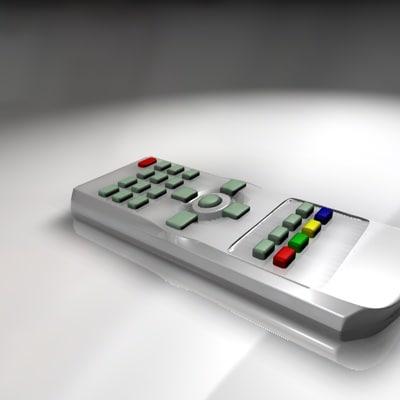 3ds max simple tv remote