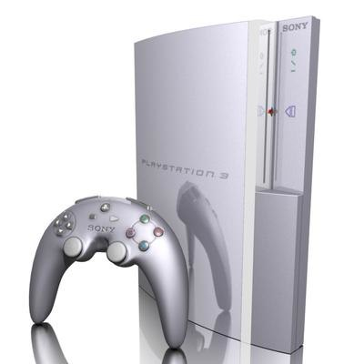 3d playstation 3 console model