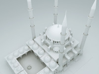 mosque selimiye 3d model