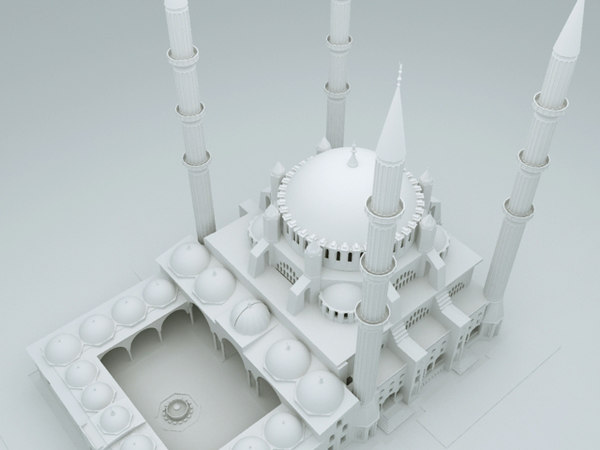 mosque selimiye 3d model