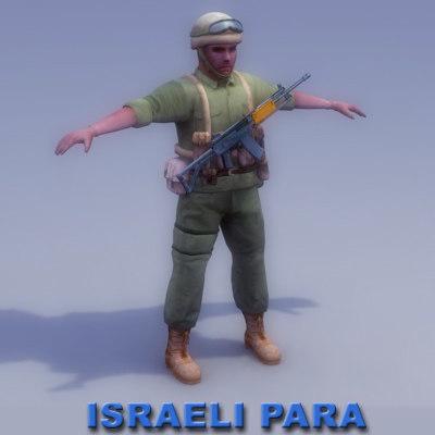 israeli paratrooper soldier 3d max