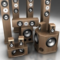 ultimate speakers 3d model