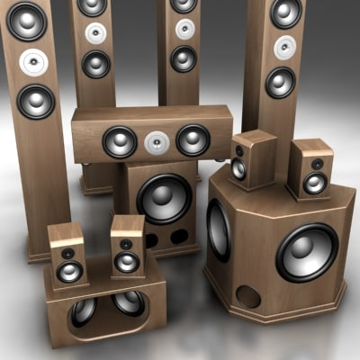 ultimate speakers 3d model