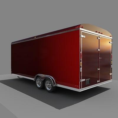 cargo trailer 3d max