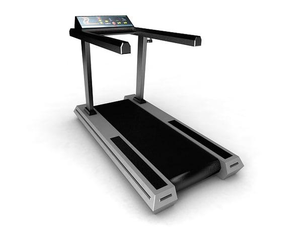 3d treadmill exercise equipment model