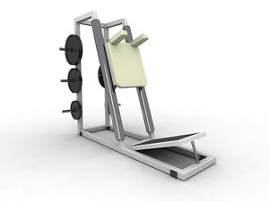 squat press exercise equipment 3d max