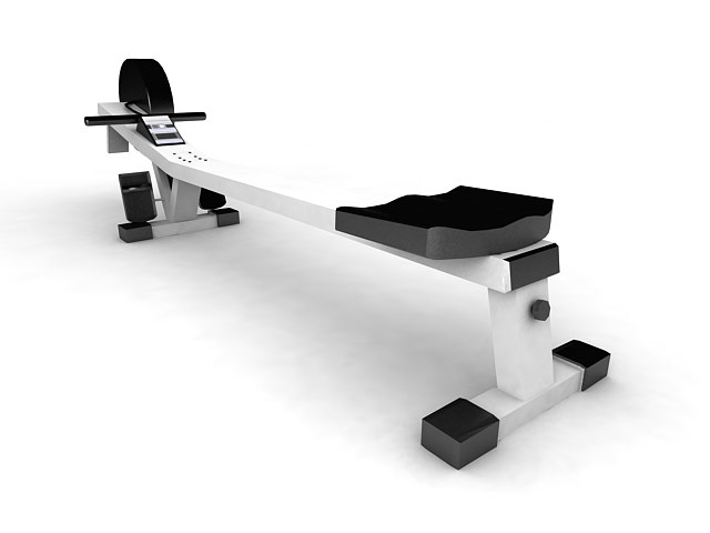 3ds max rowing machine exercise equipment