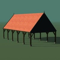 free country-barn 3d model