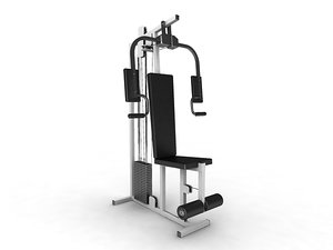 3ds max peck deck exercise equipment