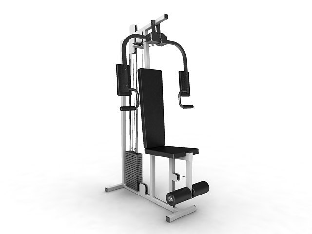 3ds max peck deck exercise equipment
