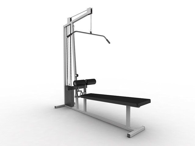 lat pulldown exercise equipment 3d max