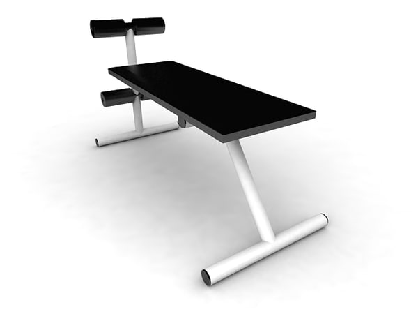 exercise bench gym 3d model