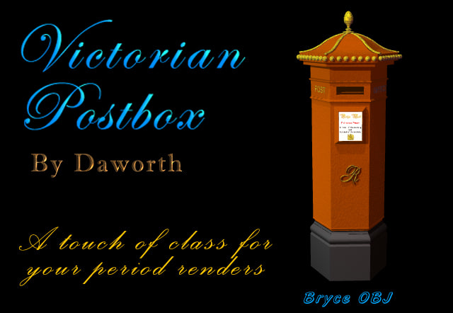 free br4 model victorian postbox