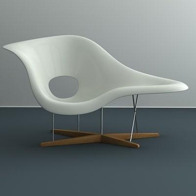 la chaise eames 3d model. Black Bedroom Furniture Sets. Home Design Ideas