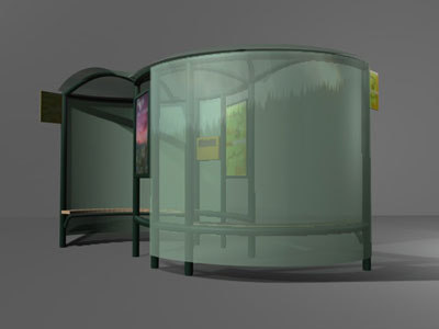 3d bus booth model