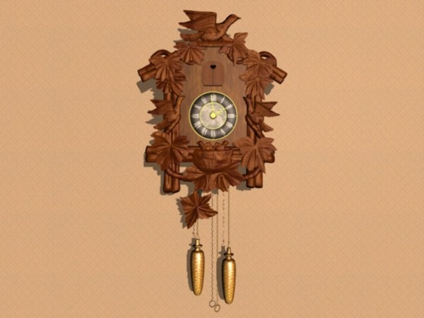 3d model black forest cuckoo clock