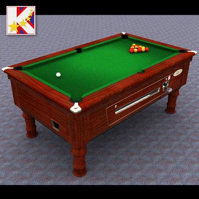 3d uk pool table