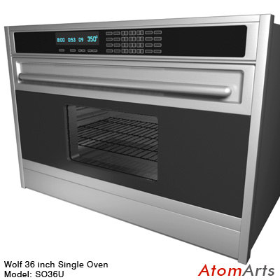 3d model wolf 36 inch single oven