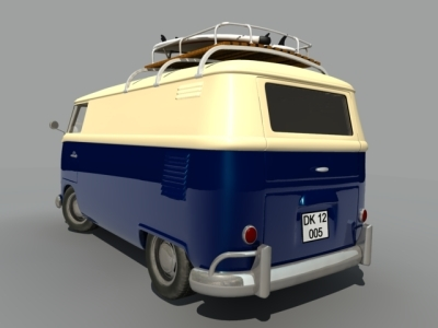 3d barndoor van car model