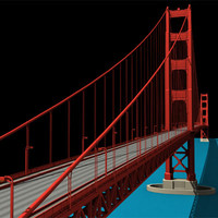 golden gate bridge 3d max
