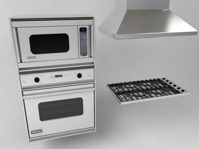 viking appliance group oven 3d model