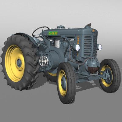 3d model landini 45 tractor