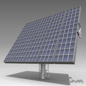 3d model solar tower