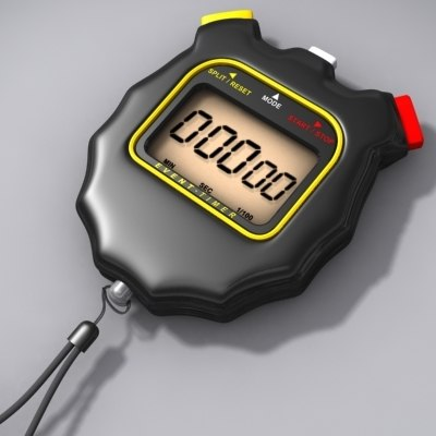 digital stopwatch 3d model