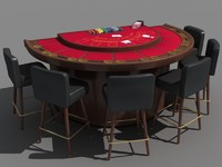 blackjack table 3d model