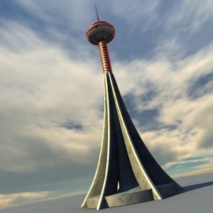 tower space needle 3d 3ds
