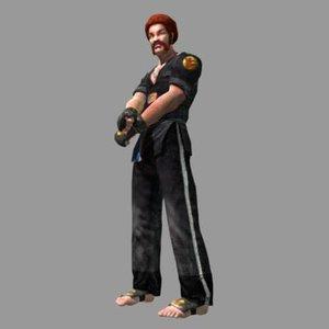 karate guy man bill 3d model