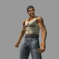 male thug gangster guy 3d 3ds