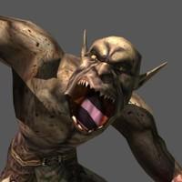 orc monster 3d model