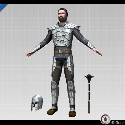 3d max warrior character
