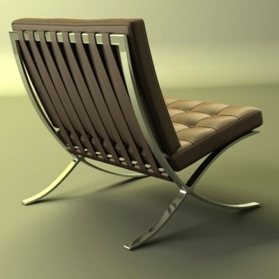 3ds barcelona chair