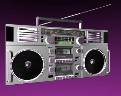 3d model old school boom box
