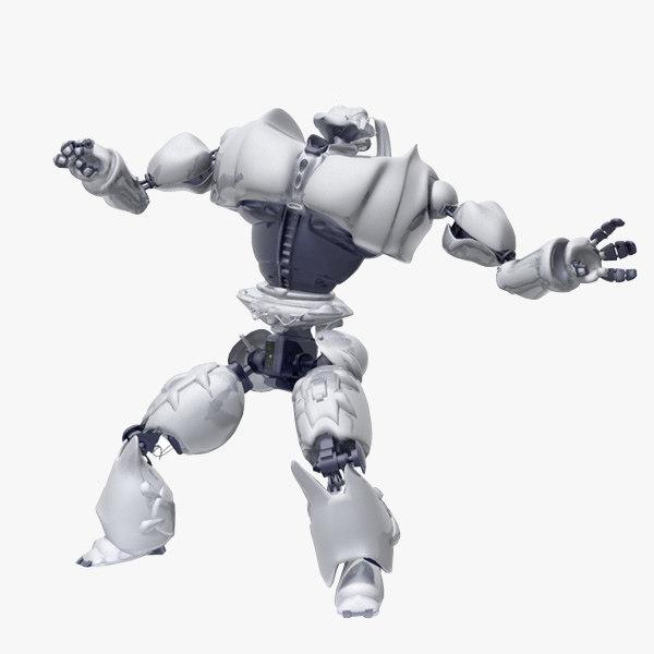 robot biped 3d model