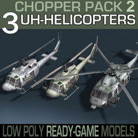Helicopter Collection-3 Pack(With interior)