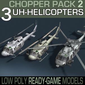 3d blackhawk interior pack model