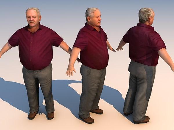character big man bigman 3d model