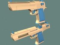 3d eagle projectiles model