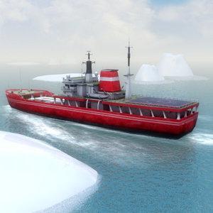 survey ship cargo 3d max