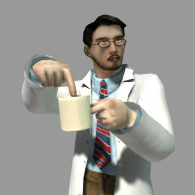 male doctor cup 3d model