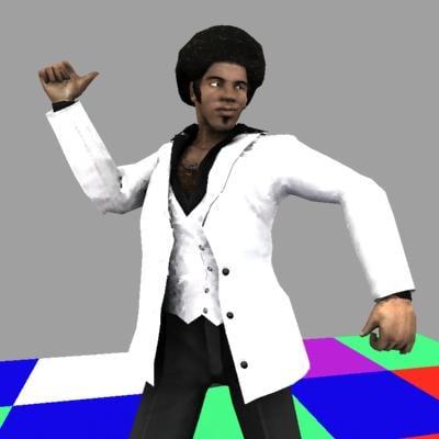 black male disco dancer 3d 3ds