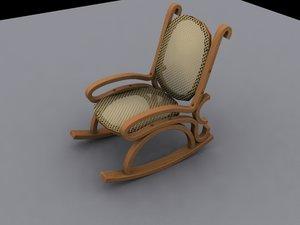 3dsmax rocking chair