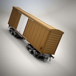 car box boxcar 3d max