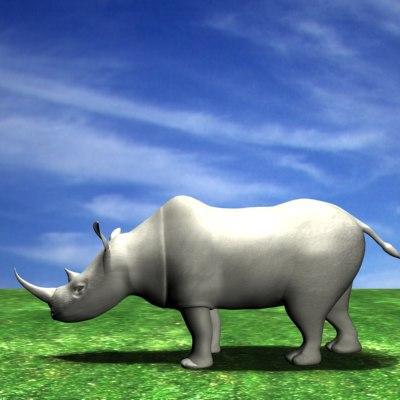 rhinoceres 3d model