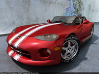res dodge viper sports cars 3d max