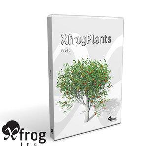 3d model trees fruit dvd plant